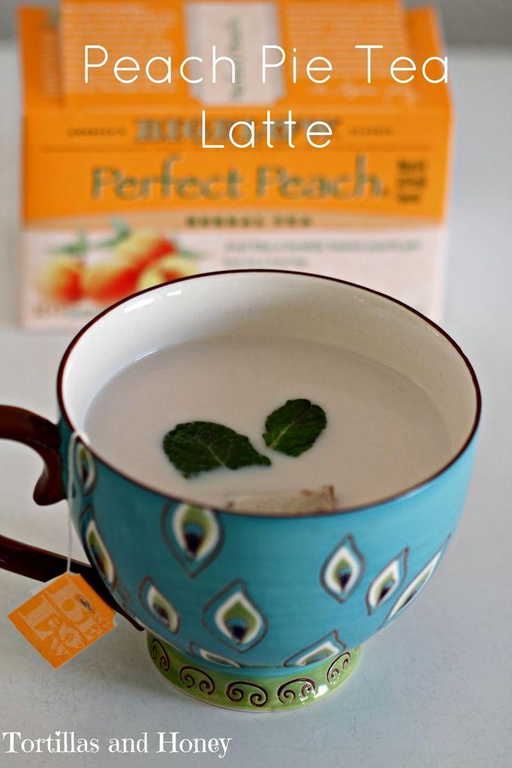 Peach Pie Tea Latte, a version of London Fog Latte. 2 peach tea bags, 8 oz hot water, 1/2 c milk heated, 1 Tbl sugar, 1/4 tsp vanilla extract. If making London Fog, use Earl Grey and lavender.