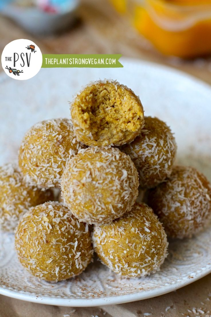 PUMPKIN SPICE BLISS BALLS I love everything this woman produces - and I'm not even vegan!