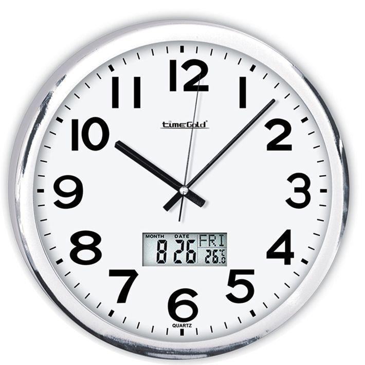 Metalize Dijital Yuvarlak Duvar Saati  Ürün Bilgisi ;  Ürün maddesi : Metalize çerceve, Gerçek cam Ebat : 32 cm  Mekanizması (motoru) : Akar saniye, saat sessiz çalışır Saat motoru 5 yıl garantilidir Metalize Dijital Yuvarlak Duvar Saati Yerli üretimdir Sağlam ve uzun ömürlü kullanabilirsiniz Kalem pil ile çalışmaktadır Gördüğünüz ürün orjinal paketinde gönderilmektedir. Sevdiklerinize hediye olarak gönderebilirsiniz