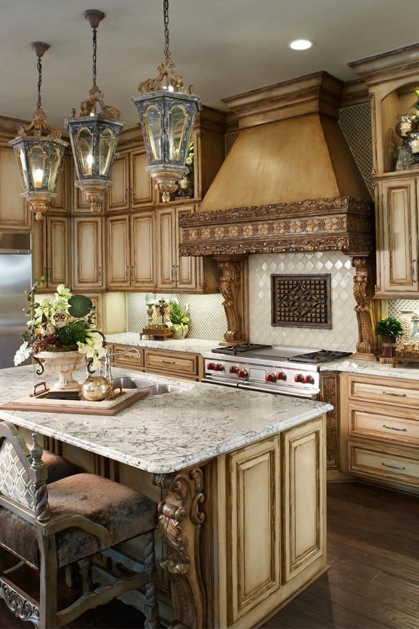 French Country Kitchen Cabinets Faux Paint Custom Furniture