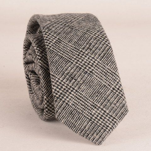 Fashionable Houndstooth Pattern 6.5CM Width Faux Wool Tie For Men