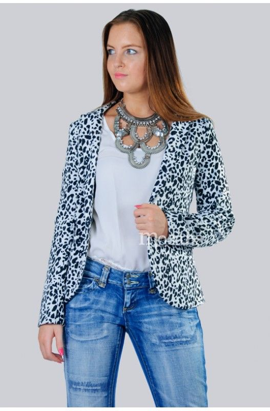 """Leopard's Eye"" Boyfriend Jacket- Upto 70% off. Shop Only at- A$20.00"