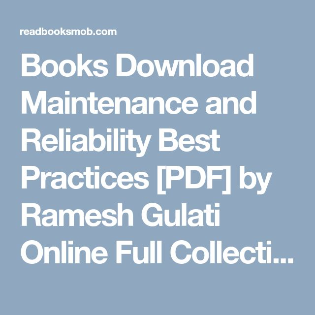 41 best my books images on pinterest books download maintenance and reliability best practices pdf by ramesh gulati online full collection fandeluxe Image collections