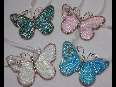 DIY~Gorgeous Vintage Butterfly Christmas Ornaments! So Easy! - YouTube