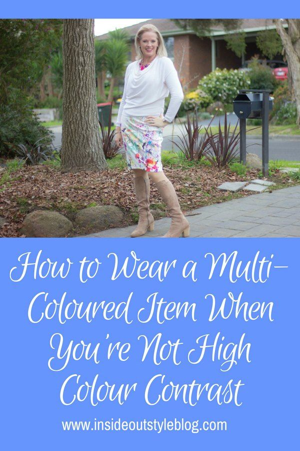 How to Wear a Multi-Coloured Item When You're Not High Colour Contrast