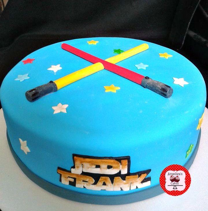Jedi Cake Star Wars Cake Lightsaber Cake Fondant