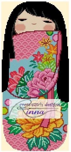 Kokeshi Girly Doll - HARUMI Cross Stitch Pattern/ Design