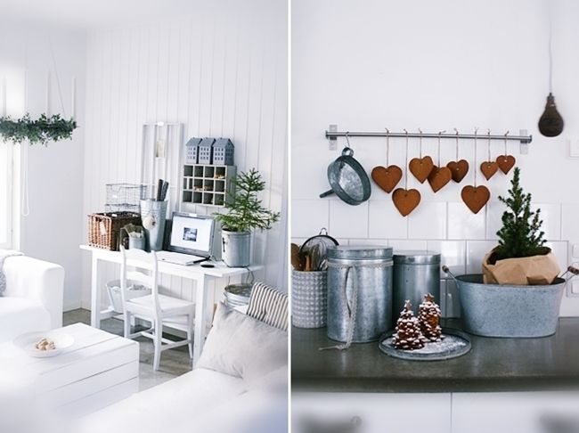 hanging gingerbread heart shaped cookies, lovely