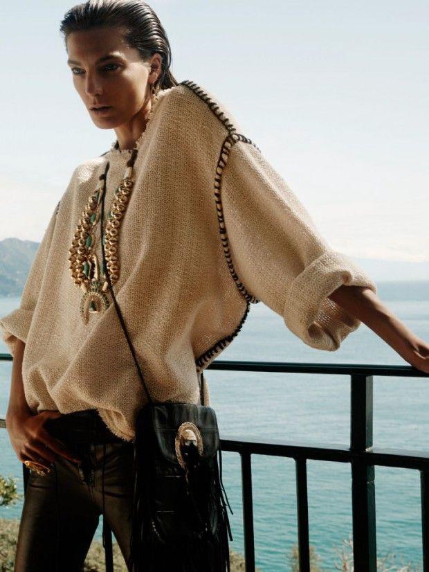 Daria Werbowy by David Sims for Vogue Paris June 2015 - Isabel Marant