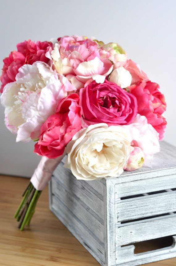 Ranunculus Wedding Bouquet  Peony Bouquet  by OceanStateFlorals