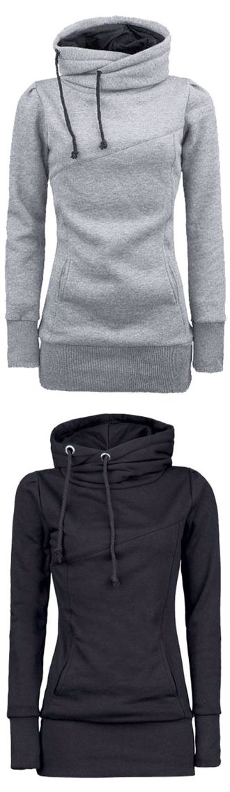 Long hooded sweatshirt – (Cupshe)