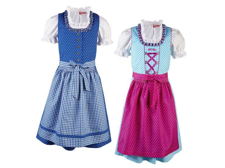 LUPILU® Kleinkinder Mädchen-Dirndl, 3-teilig 1