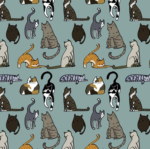 25+ Best Ideas about Cat Pattern Wallpaper on Pinterest ... Tabby Cat Cartoon Drawing