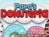 Papa Louie ha ampliado su negocio con la venta de donuts y te ha contratado para gestionarlo con éxito. Prepara y sirve los pedidos lo más rápido que puedas.