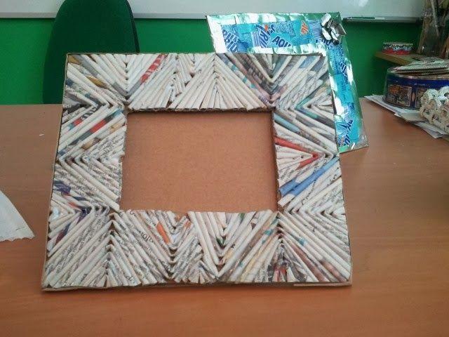 17 mejores ideas sobre marcos de papel en pinterest - Marcos de fotos manualidades ...