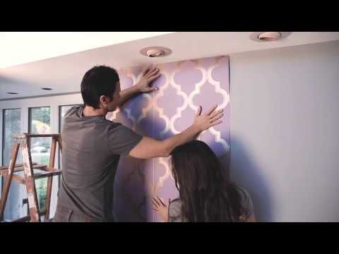 Devine Color at Target: How to Apply Wallpaper - YouTube