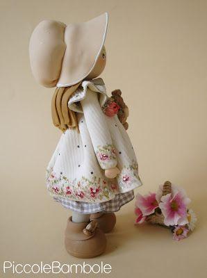 PiccoleBambole: Holly Hobbie - doll- bambole porcellana fredda - porcelana fria- cold porcelain - polimery clay