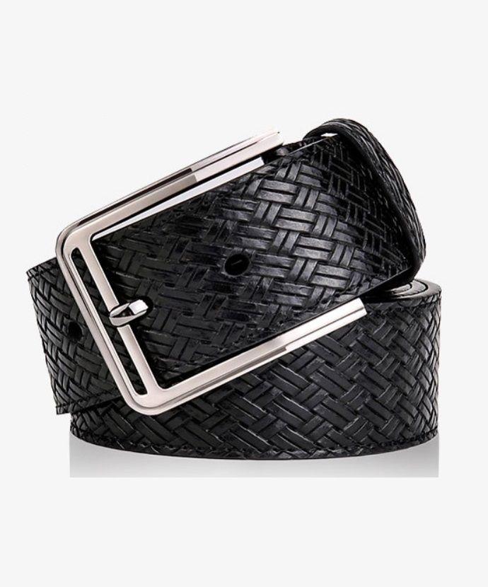 Stocktake Sale!!! Weave style rectangular alloy buckle belt (BLACK) -$12.99