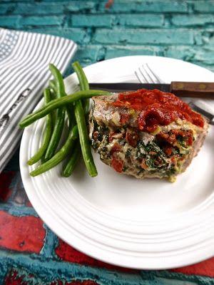 Paleo Gouda and Spinach Stuffed Pork Chops