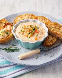 Use our Super 6 cucumber to create this decadent smoked salmon and cucumber dip.