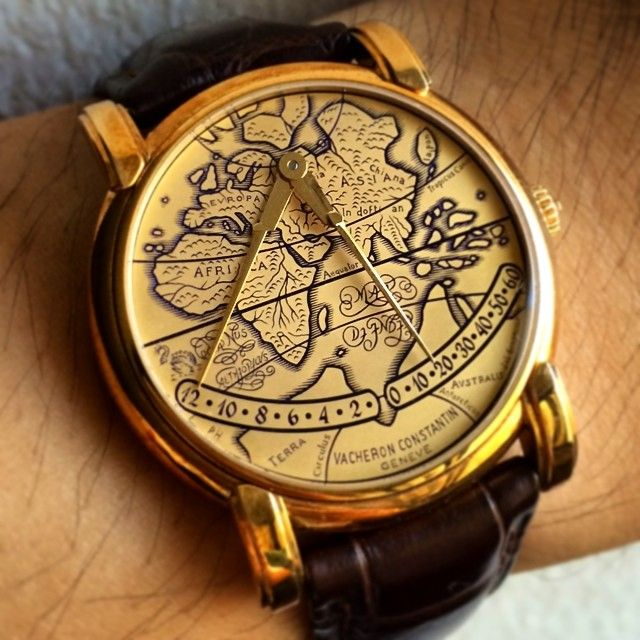 Probably the most distinctive time display from Vacheron Constantin, the Mercator bi-retrograde.