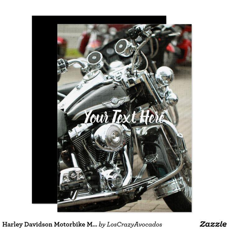 Harley Davidson Motorbike Motorcycle Invitation