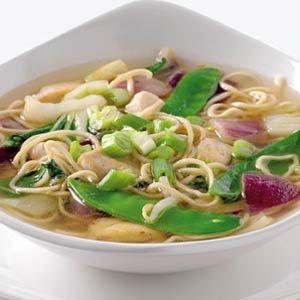 16 oktober - kipfiletblokjes in de bonus - Recept - Chinese miesoep met kip - Allerhande