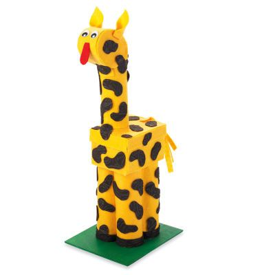 Create this fun giraffe from boxes and paper towel tubes!