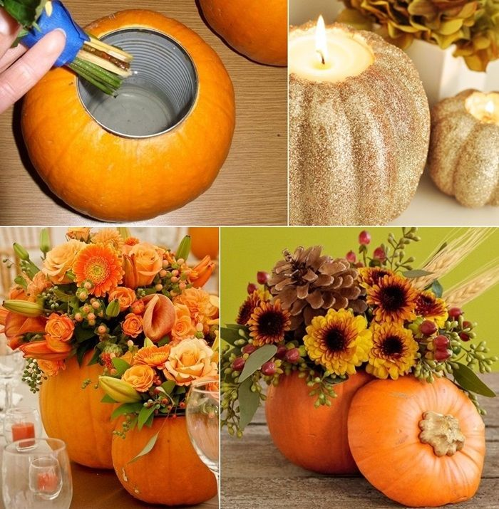 Would You Try Making a Pumpkin Vase or Candleholder? - http://www.amazinginteriordesign.com/try-making-pumpkin-vase-candleholder/
