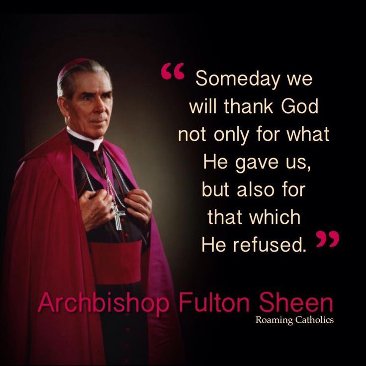 Bishop Sheen Quotes: 20 Best Fulton Sheen Quotes Images On Pinterest