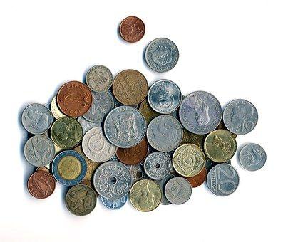 Dinero, Monedas, Moneda, De Metal