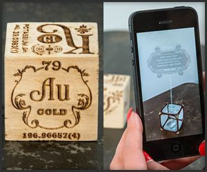 26 best elements 4d images on pinterest augmented reality each face on these wood blocks shows the name of an element but when viewed through an augmented reality app they come to life showing how they interact urtaz Gallery