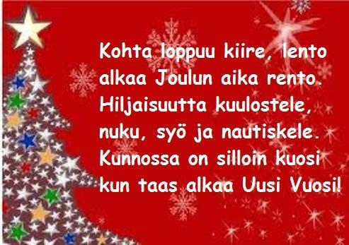 TULOSTETTAVA RUNOPOHJA joulukorttiin
