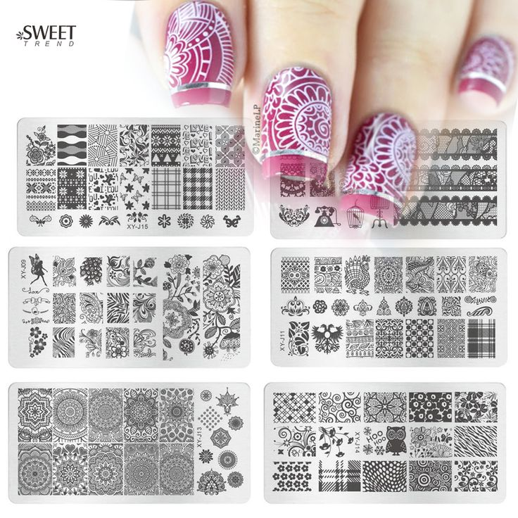 Buy 1pcs Hot Fashion Image Design Polish Printing Stamp Template Nail Art Stamping Plates Stainless Steel Manicure Stencils XYJ01-16 at JacLauren.com