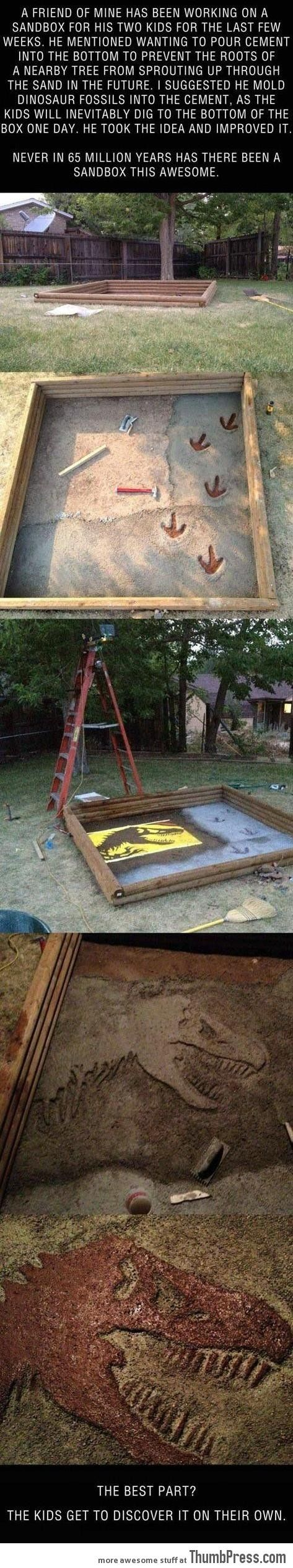 A great sandbox idea! - this dad is awesome!