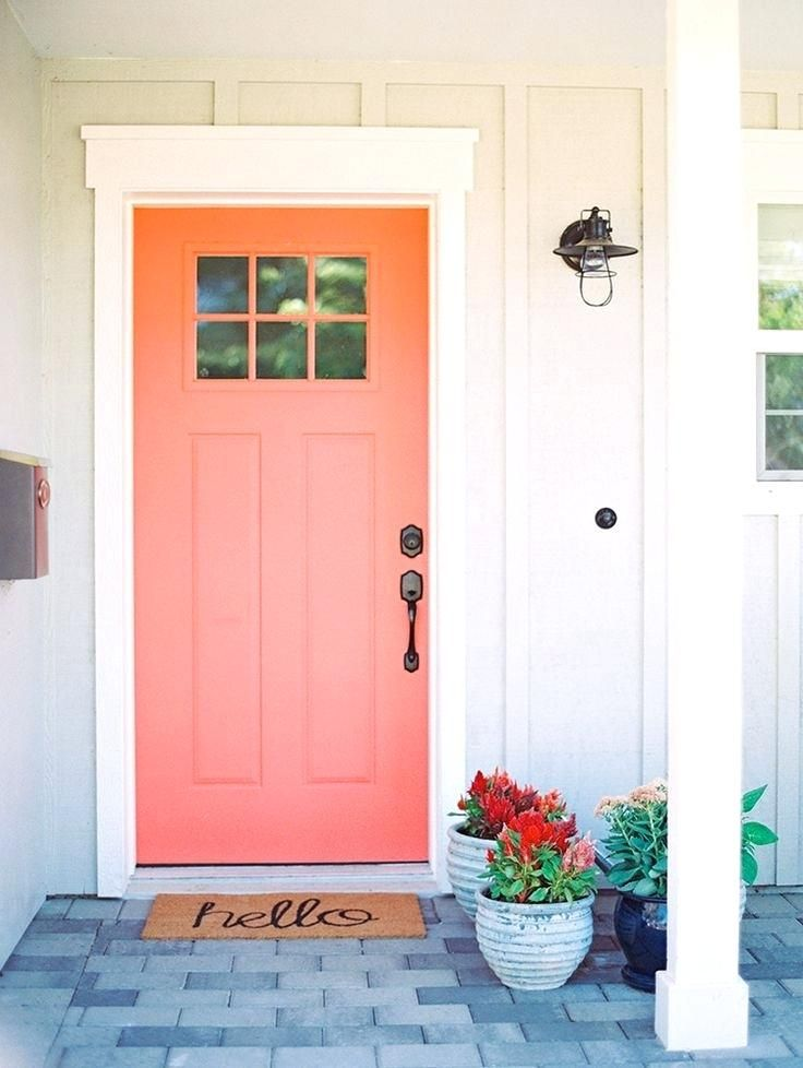 Best Color To Paint Front Door On White House Front Door Red Paint Coral Front Doors Cottage Front Doors Painted Front Doors