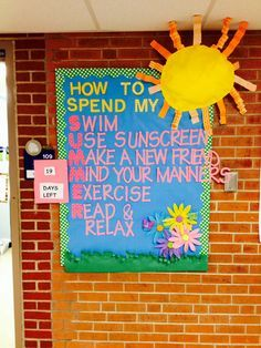 How to spend my summer school bulletin board-