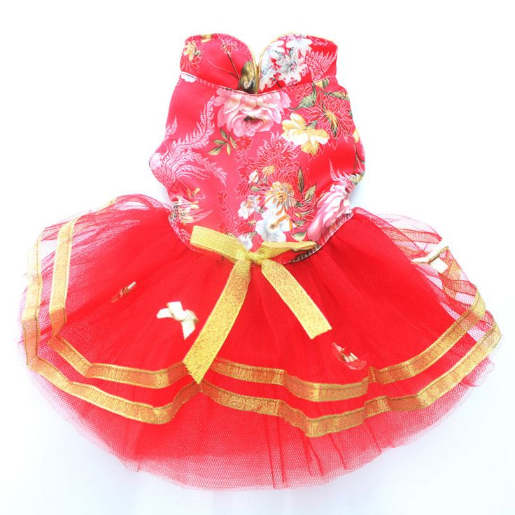 Spring Summer Festival Tangsuit Red Dog Dress Tutu Pet Skirts for Small Dog XS S M L // FREE Shipping //     Buy one here---> https://thepetscastle.com/spring-summer-festival-tangsuit-red-dog-dress-tutu-pet-skirts-for-small-dog-xs-s-m-l/    #lovecats #lovepuppies #lovekittens #furry #eyes #dogsitting