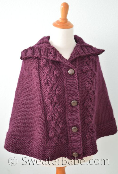 Knitting Patterns For Capes : #206 Floral Top-Down Cape PDF Knitting Pattern Knitting patterns, Knitting ...