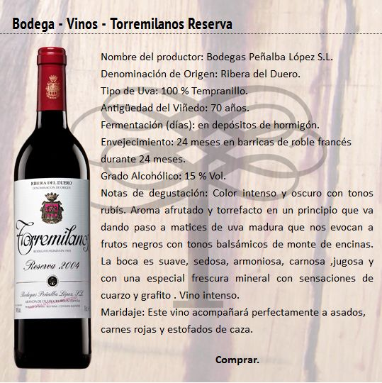 2004 Torremilanos Reserva Tempranillo. Had it as a Special Wine of June 2015. Fantastic. 91/100