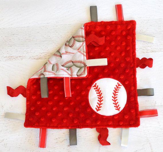 11x11 Baseball taggie blanket