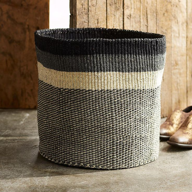 Nairobi basket handwoven of renewable flexible sisal for Home decor kenya