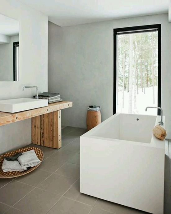 Gestucte muren in de badkamer wooninspiratie interior for Bathroom designs 8 x 15