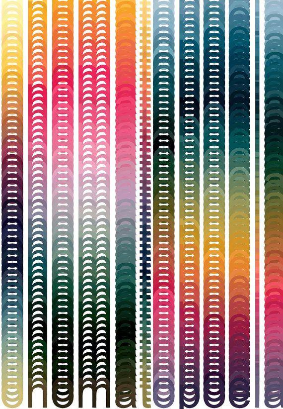 digital art print - onomatopoeia 3.7 - 11 x 17