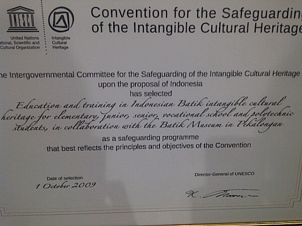 safequarding programe that best reflects the principles & objectives of Convention @unescoNOW @museumbatik