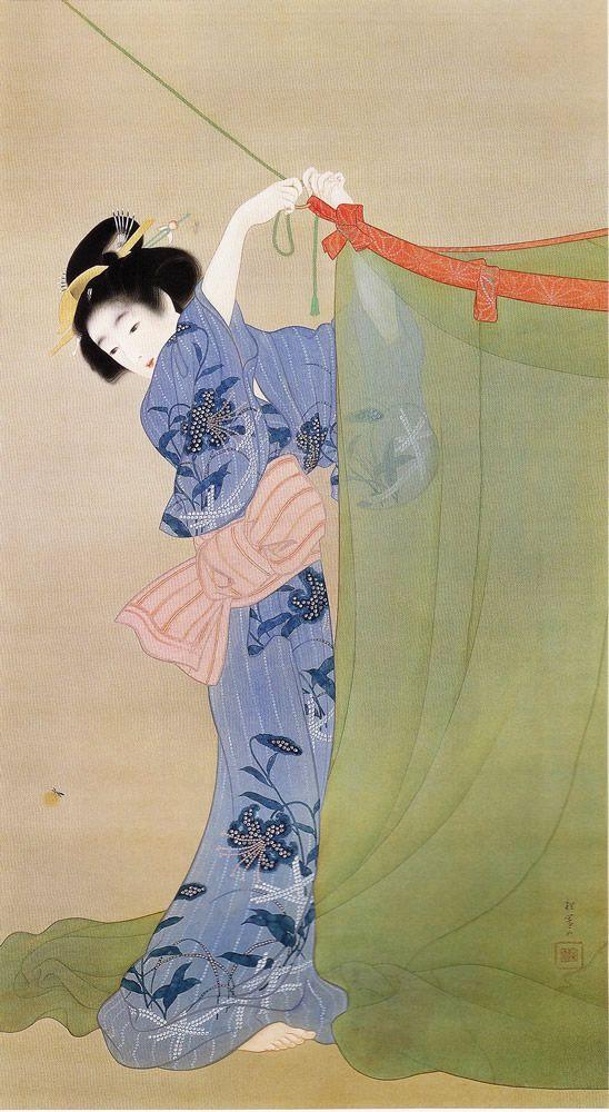 上村松園『螢』(1913)山種美術館蔵