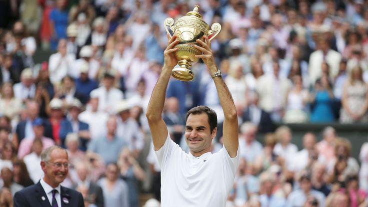 Роджер Федерер выиграл Уимблдон в восьмой раз
