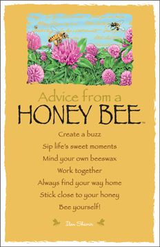 Advice from a Honey Bee