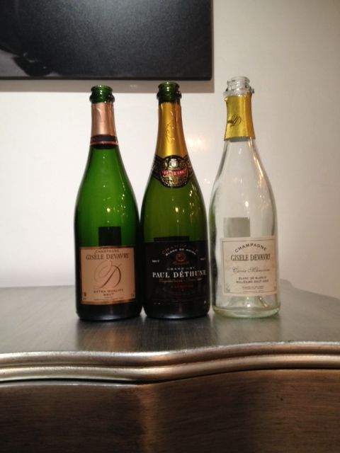 The three french champagnes we indulged in! www.frenchrendezvous.com.au