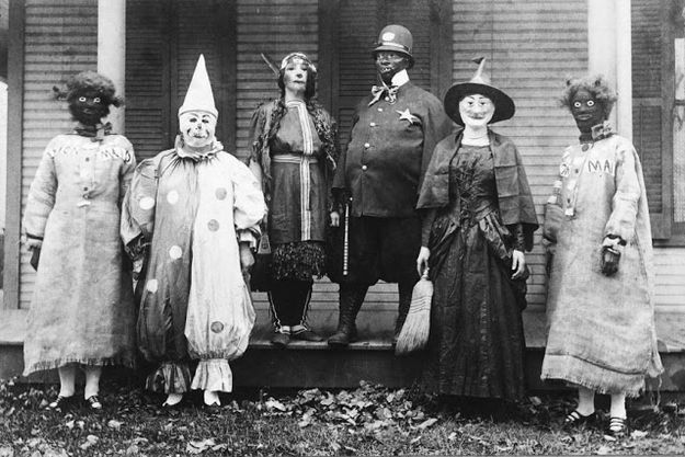 These costumes are managing to be both creepy and RACIST.